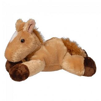 Tan/White Blaze Flopsie Plush Horse