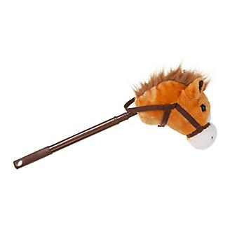 Plush Adjustable Stick Horse with Sound Brown