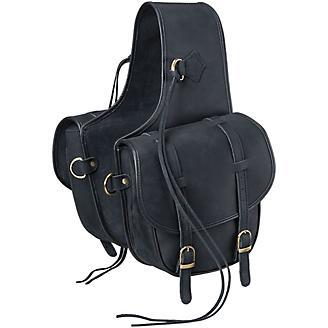Tough1 Soft Leather Saddle Bag