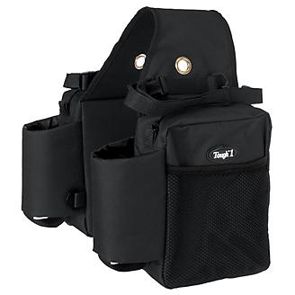 Tough1 Nylon Saddle Bag w/Bottle Holders