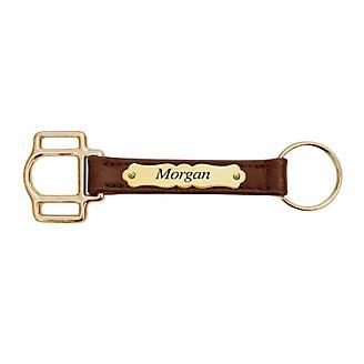 Personalized Halter Cheek Leather Keychain