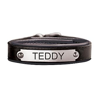 Personalized Black Leather Bracelet