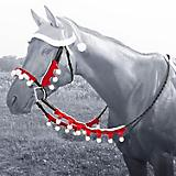 Holiday Santa Halter and Rein Cover Set
