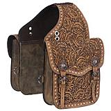Tough1 Leather Floral Saddle Bag