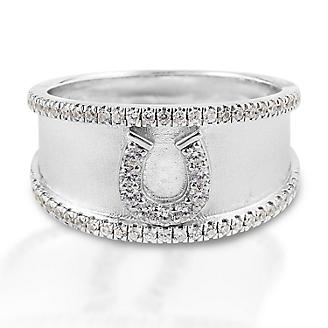 Kelly Herd Crystal Bordered Horseshoe Ring