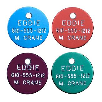 Personalized 7/8in Round Aluminum Tag
