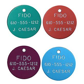 Personalized 1 1/4in Round Aluminum Tag