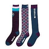 Dublin Ladies Argyle Socks 3 Pack