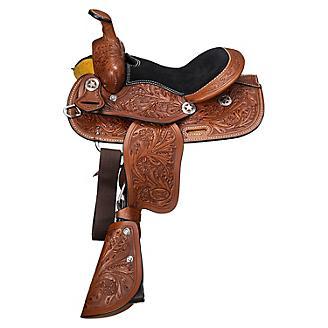 Ozark Mini 10in Floral Tooled Saddle