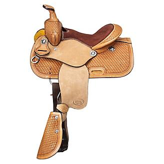 Ozark Mini 10in Basket Tooled Saddle