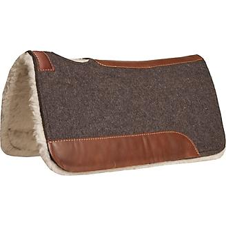 Mustang Blue Horse Wool Fleece Bottom Pad