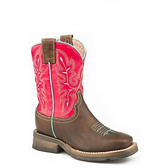 Roper Little Kids Nellie Square Toe Boots