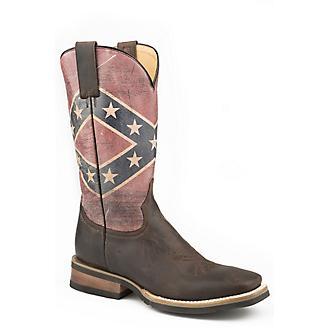 Roper Mens Rebel Flag Sq Toe Boots