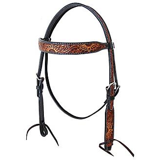 Oxbow Sunflower Tooled Browband Headstall