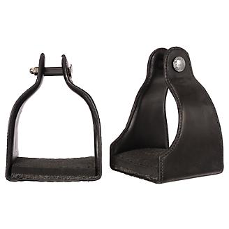 Tough1 Leather Covered Padded Endurance Stirrups