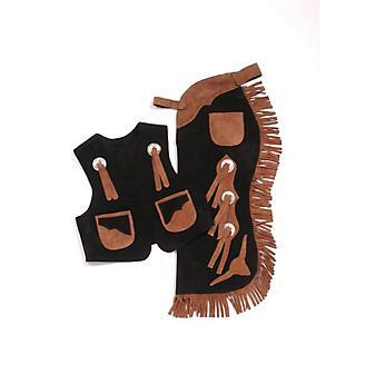 Tough1 Longhorns Youth Vest/Chap Set