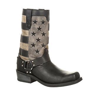 Durango Mens Faded Flag Snoot Boots