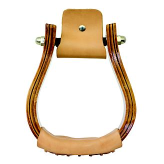Equi-Sky 3 1/2in Wooden Bell Stirrups