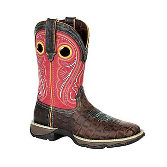 Durango Ladies Gator Emboss Sq Toe Boots