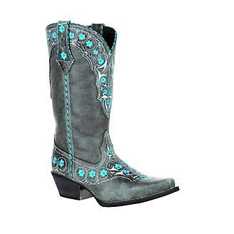Durango Ladies Crush Floral Snip Boots