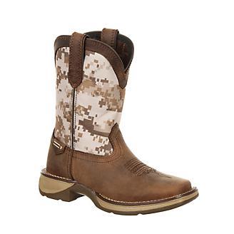 Durango Big Kids Camo Sq Toe Boots