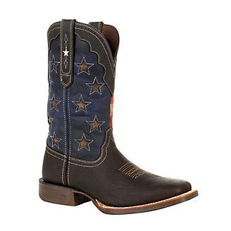 Durango Mens Pro Vint Flag Star Boots