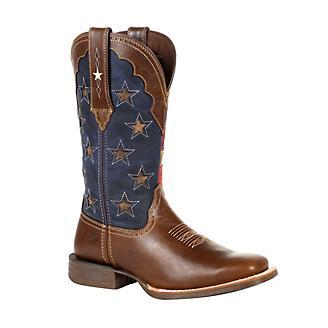 Durango Ladies Pro Vint Flag Star Boots