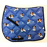 Lettia Embroidered Puppy All Purpose Saddle Pad