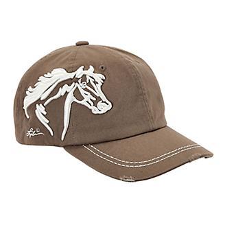 Lila 3D Horse Head Distressed Cap