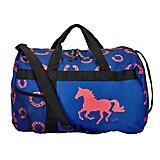 Lila Horseshoe Blue/Pink Travel Duffel Bag