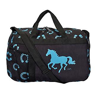 Lila Horseshoe Black/Turquoise Travel Duffel Bag