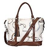 Lila Equestrian Pattern Travel Bag with Tassel