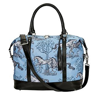 Lila Blue Toile Pattern Travel Bag with Tassel