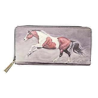 Lila Paint Horse Clutch Wallet
