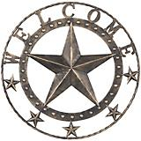 Decorative Metal Black Welcome Star 18in
