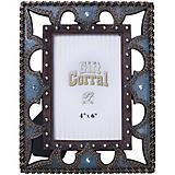 Blue Leather 4x6 Photo Frame