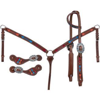Tough1 Triple Arrow 3-Piece Tack Set - Horse.com
