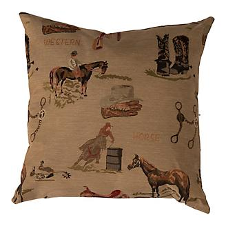 Huntley Western Tapestry Decorative Pillow