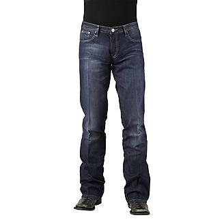 Stetson Mens 1014 Fit Semi-Dest Wash Jeans