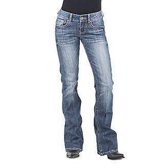 Stetson Ladies Bleached XV Deco Jeans