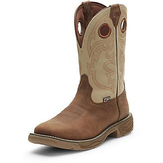 JOW Mens Rush Rust Sq Toe Work Boots