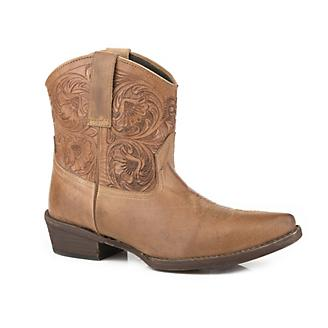 Roper Ladies Snip Tooled Shorty Boots