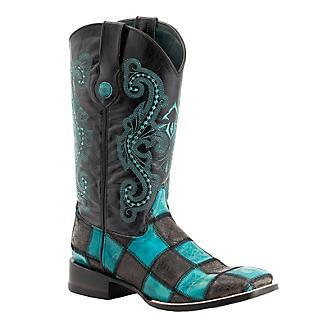 Ferrini Mens Patch S-Toe Boots