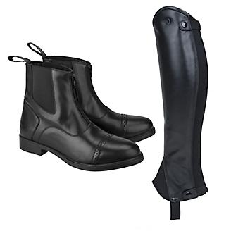 OEQ Kids Paddock Boot and Half Chap Package