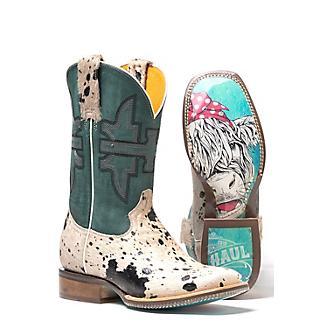 Tin Haul Ladies Shaggy Spot Boots