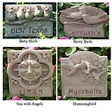 Concrete Garden Plaque Engraved