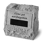 Personalized Headstone- Gone yet not forgotten