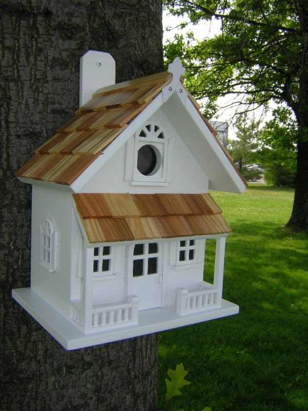 Victorian Cottage Birdhouse Light Yellow