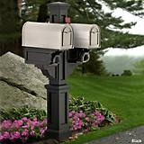 Rockport Double Mailbox Post