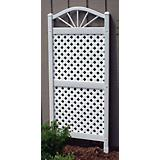 Dura-Trel Sunburst Vinyl Lattice Trellis